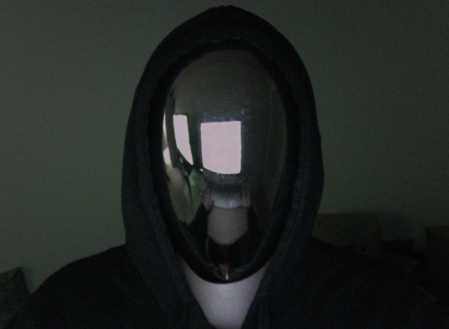 Creepy No Face Halloween Mirror Mask